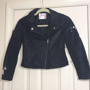 🎉HP Justice Faux Leather Biker Moto Jacket 8/10